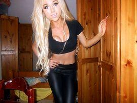 Chloe Harwood - wearing black.