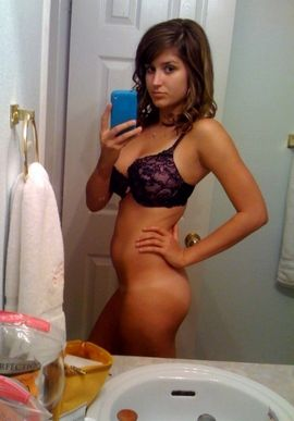 Hot brunette teen (18+) in this amazing beginners wife photo.