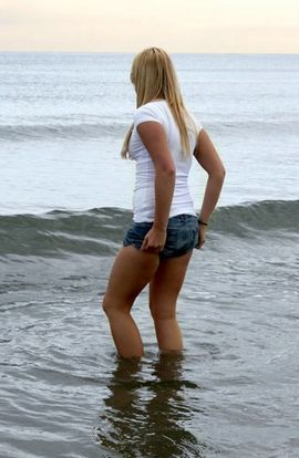 Hot teen on a beach...