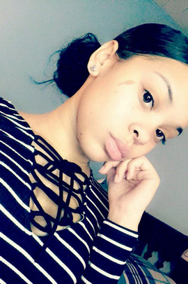 Black girlfriend big, plump lips
