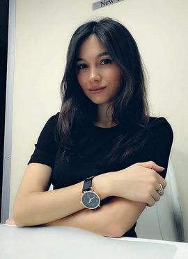 Oriental girl with beautiful eyes