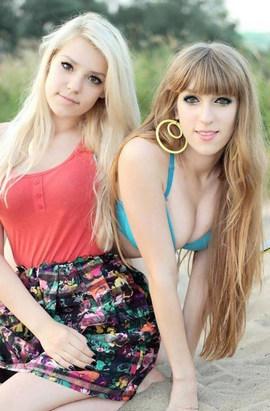 Beautiful-looking girlfriends