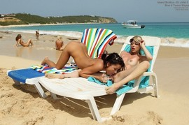 Brea Bennett and Tanner Mayes on the beach