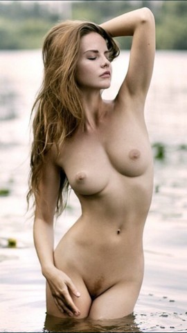 Natural beautiful lady has so wonderful hairy pussy and big hot boobs