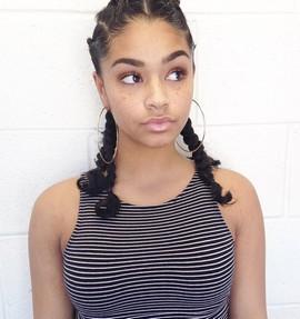 Cute Ebony Teen Girl With Freckles