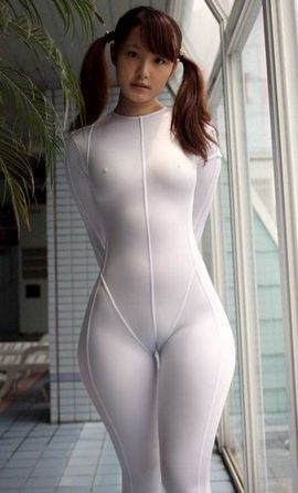 Sey bodysuit and pigtails thick asians cameltoe candid Charming Kaylin.